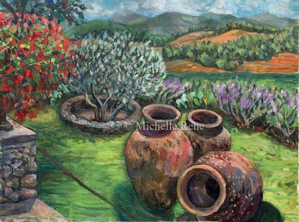 Three Tuscan Pots